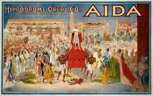 """Афиша оперы """"Аида"""" (США, 1908 г.)"""